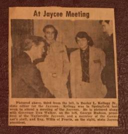 Buster Kellogg Jr. Jaycees Involvement