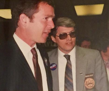 Buster Kellogg Jr. with George W. Bush