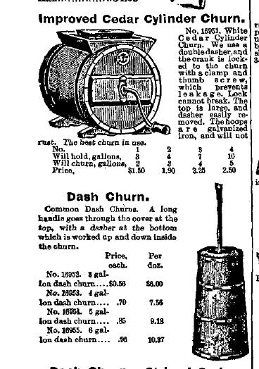 Cylinder & Dash Butter Churn Advertisement