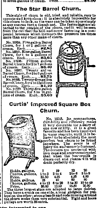 Barrel & Square Butter Churn Advertisement
