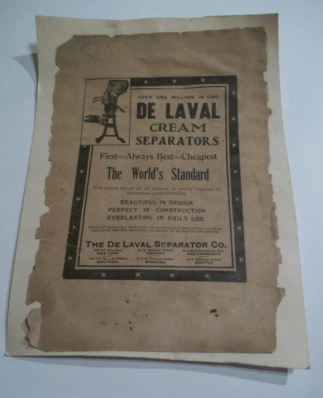 Cream Separator Advertisement