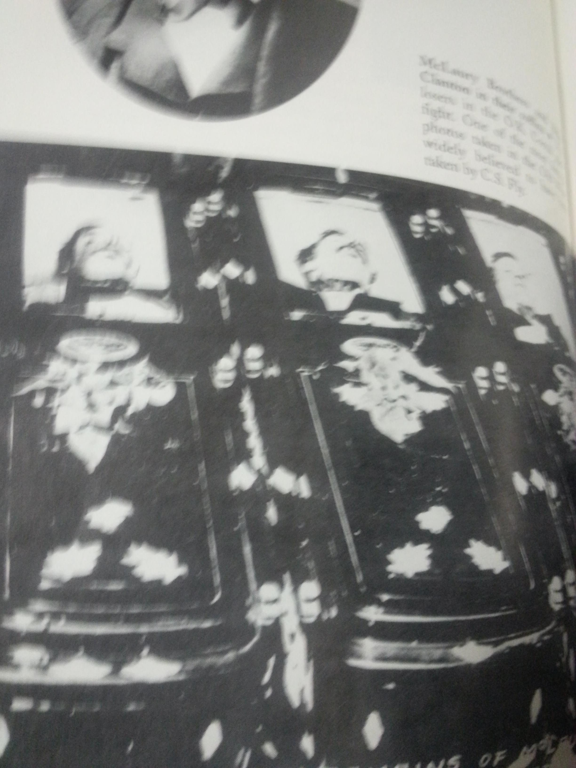 Ike Clanton,Billy Clanton, Tom McLaury,Frank McLaury