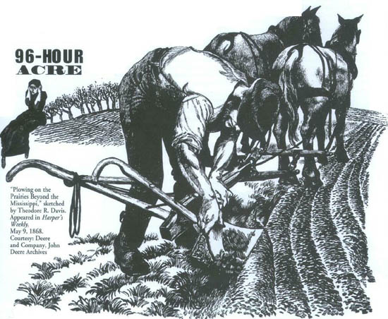 Demonstration of first steel plow