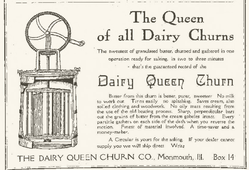 Dairy Queen Churn Company Advertisement