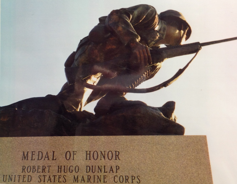 Statue of Robert Dunlap in Monmouth, Illinois