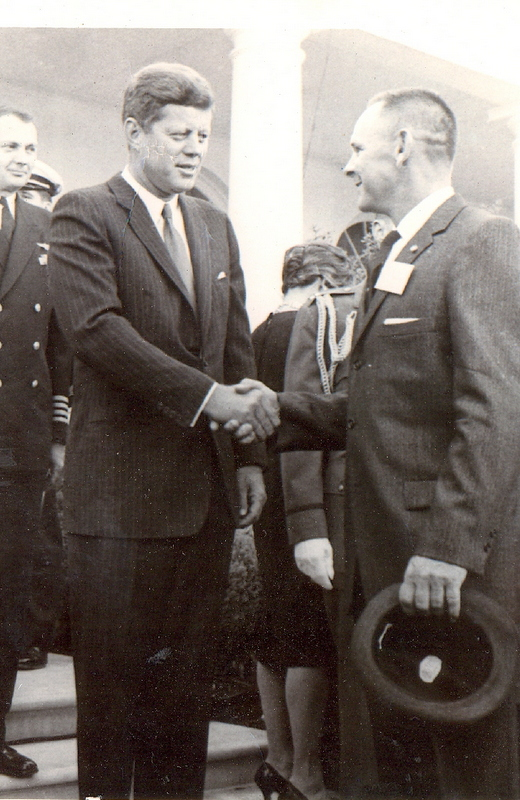 Dunlap and President John Kennedy