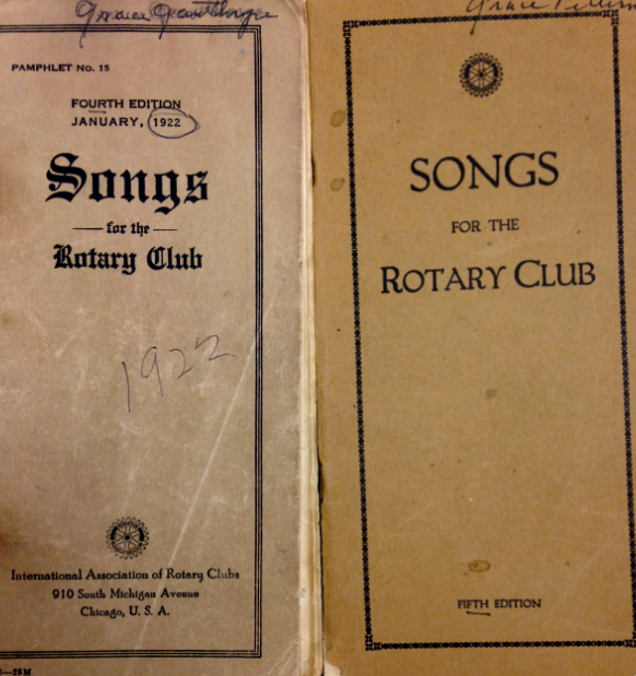 Songbooks for the Rotary Club