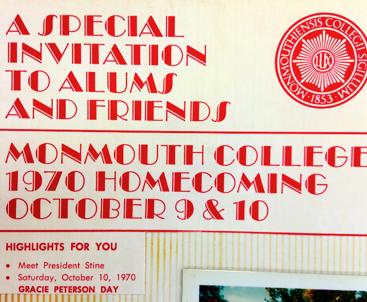 Invitation to Monmouth College Homecoming