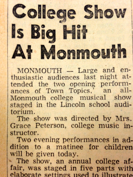 Newspaper Review: College Show Is Big Hit At Monmouth