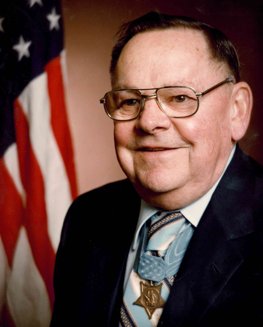 Portrait of Robert Dunlap with Medal of Honor
