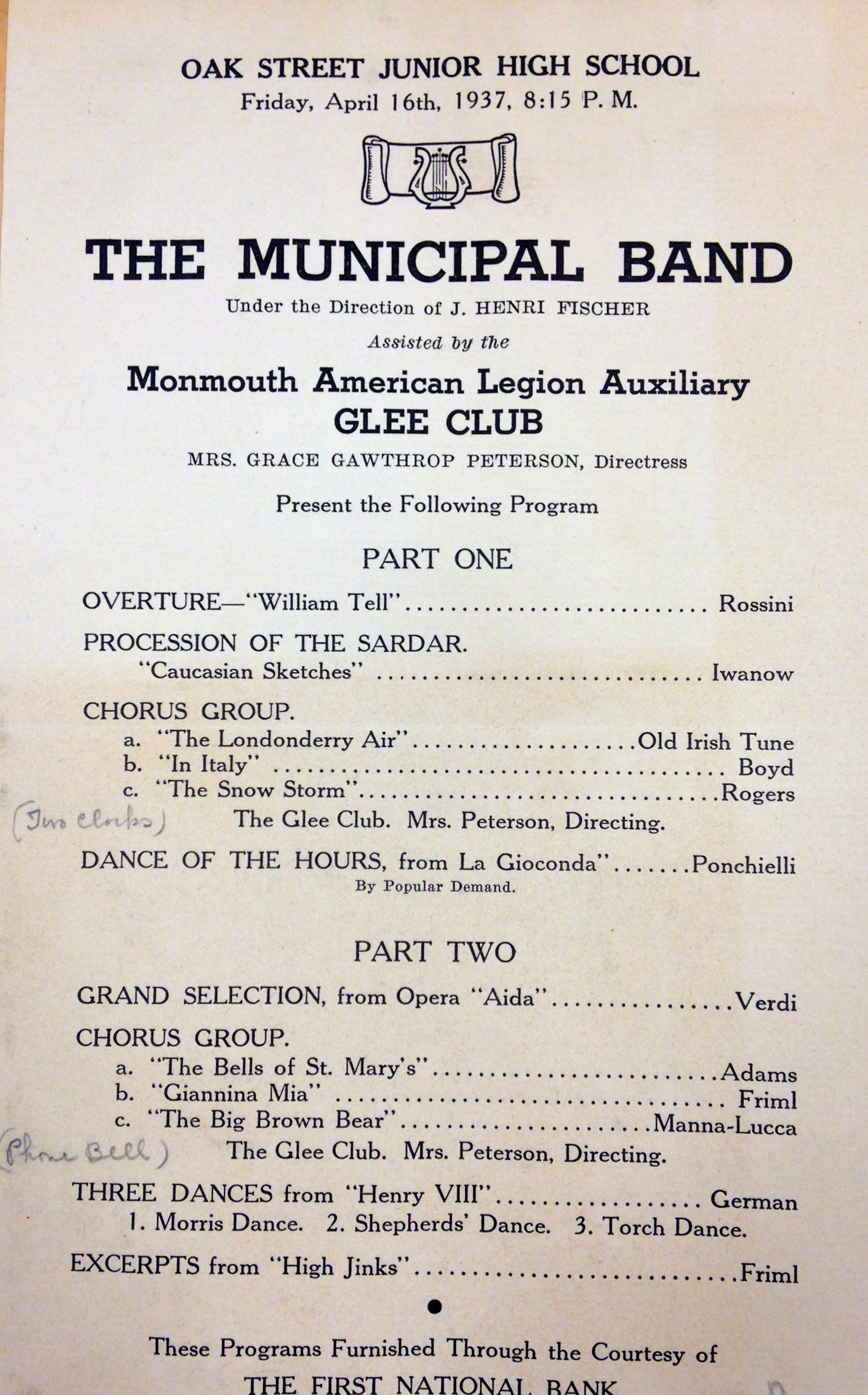 Monmouth American Legion Auxiliary Glee Club