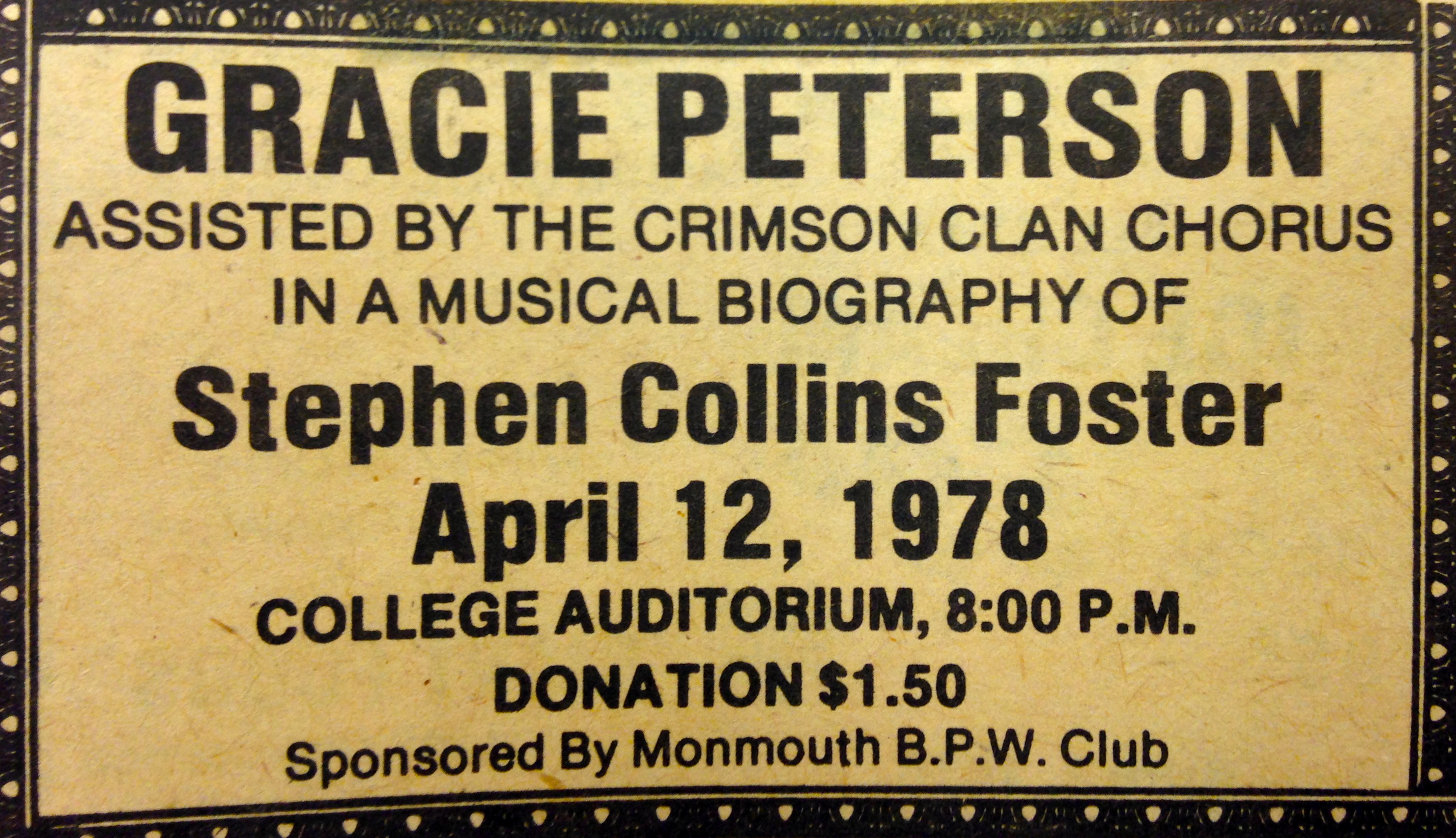 Stephen Collins Foster Musical Biography