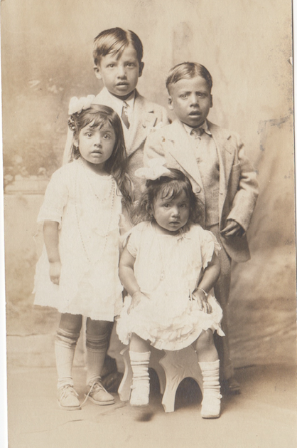 The Almaguer children, 1926