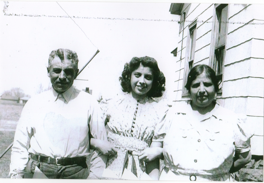Lupe with her parents, c. 1940-41