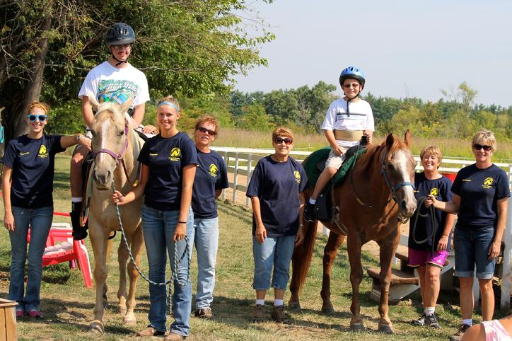 Volunteers and Staff at Rainbow Riders