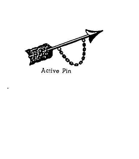 The Pi Beta Phi arrow pin