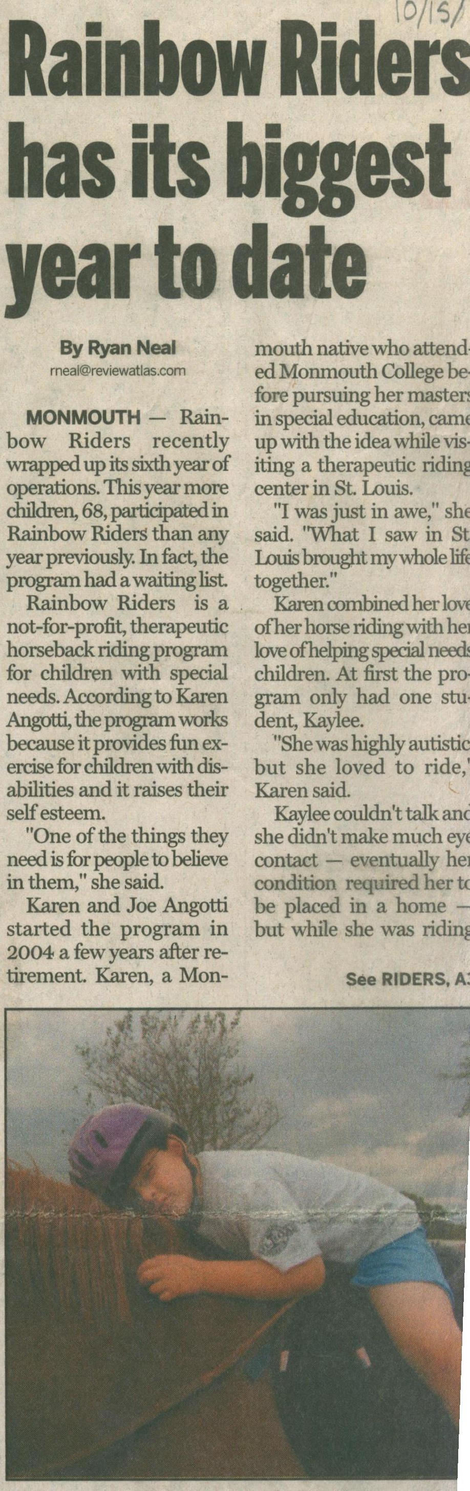 Success of Rainbow Riders