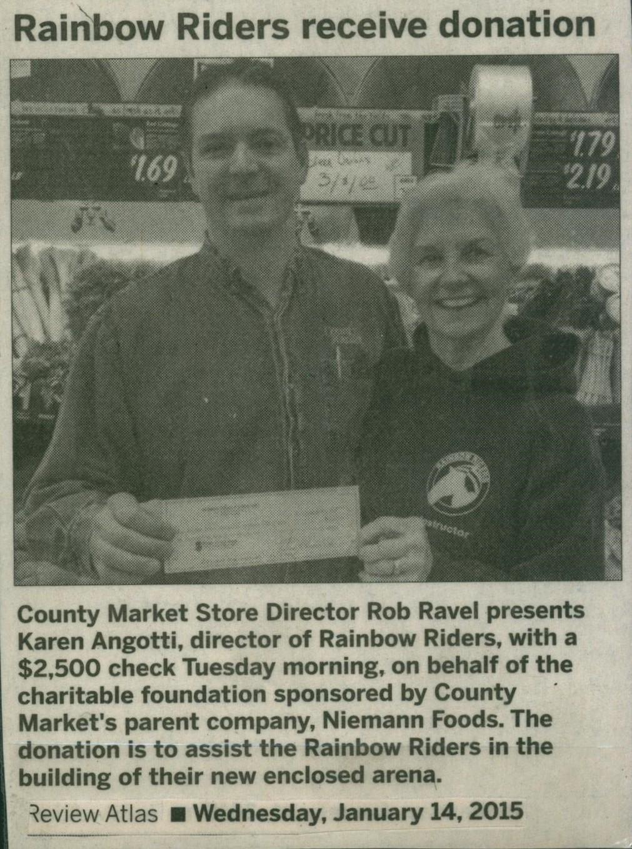 County Market Donates