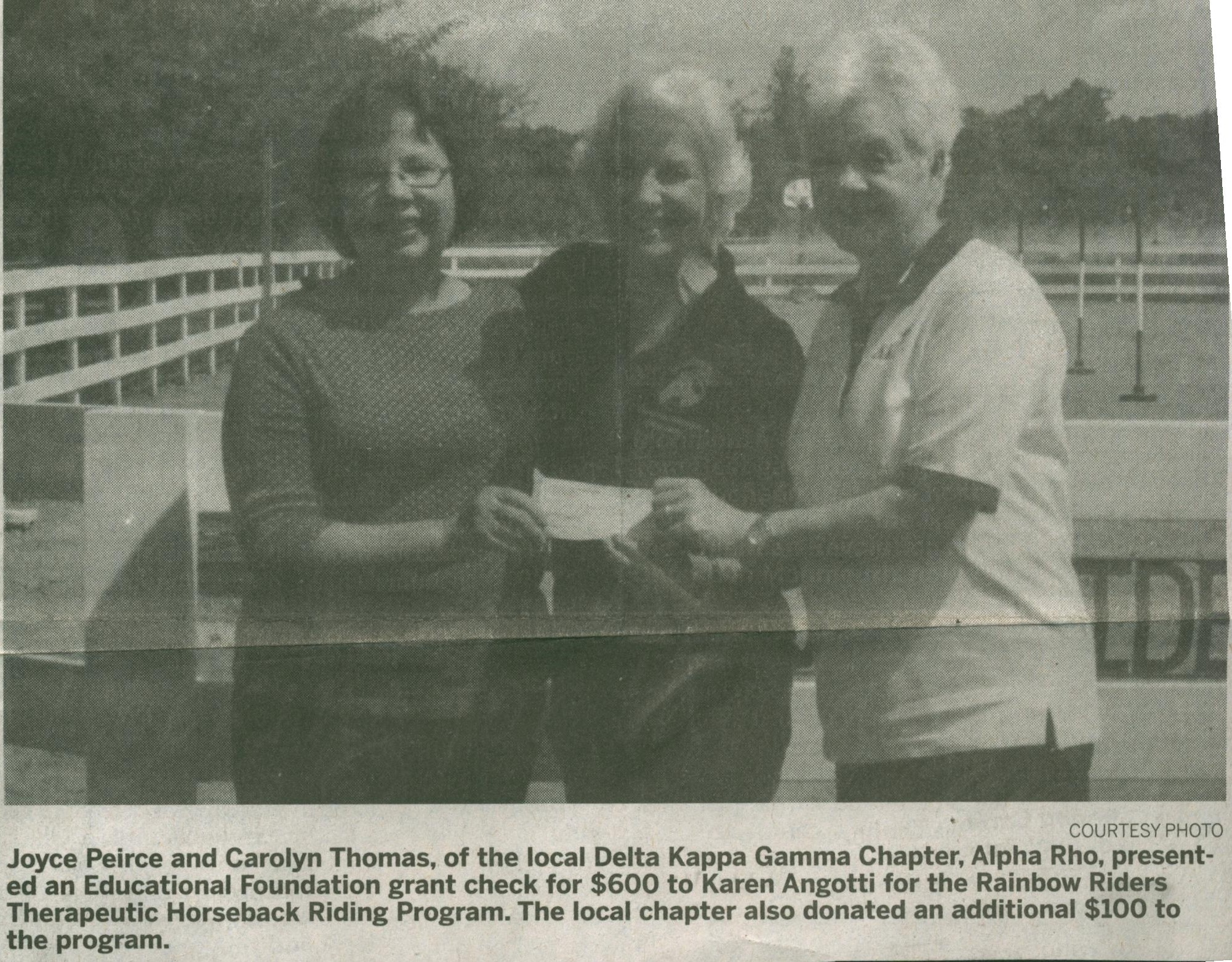 Local Delta Kappa Gamma Chapter Donates