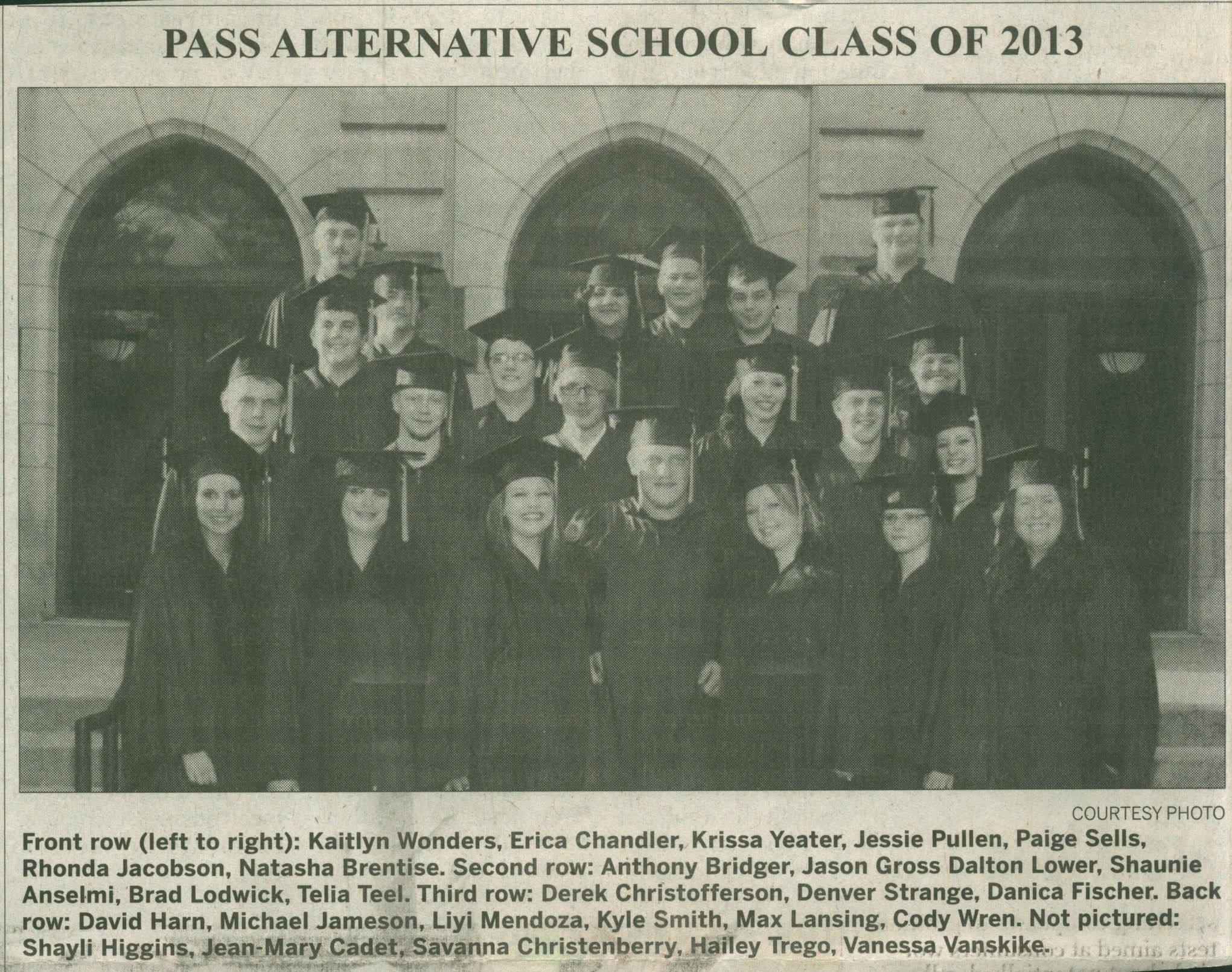 PASS Graduates from 2013
