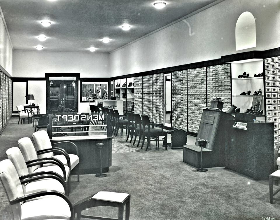 Inside Bowman's Shoe Store